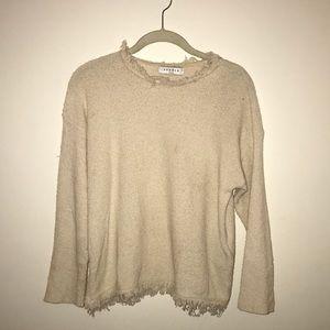 Sandro Cream Knit Blouse